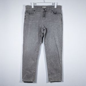 Eileen Fisher Straight Leg Jeans Gray Size 14